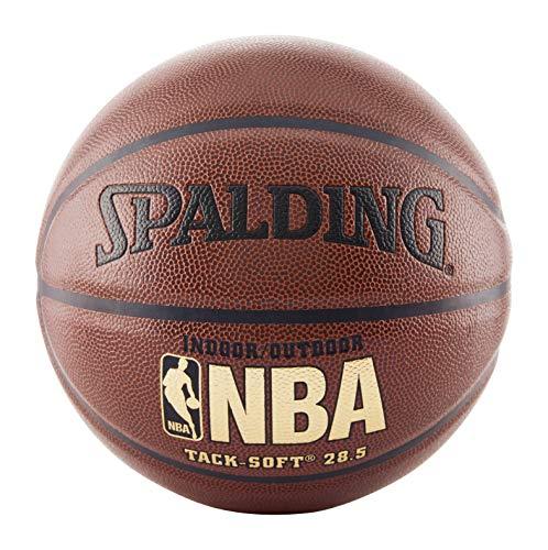 Spalding NBA Tack Soft Indoor-Outdoor Basketball , Brown, Size 6, 28.5