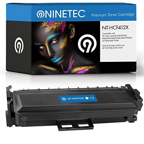 Original NINETEC NT HCF412A Toner Kartusche Yellow kompatibel mit HP CF412A 305A X