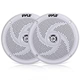 Pyle Marine Speakers - 5.25 Inch 2 Way Waterproof and Weather Resistant Outdoor