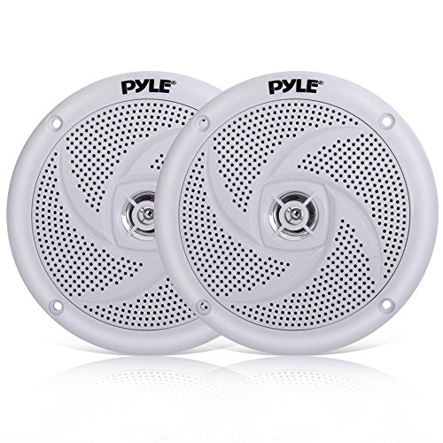 Pyle Marine Speakers - 5.25 Inch 2 Way Waterproof and Weather Resistant Outdoor Audio Stereo Sound...