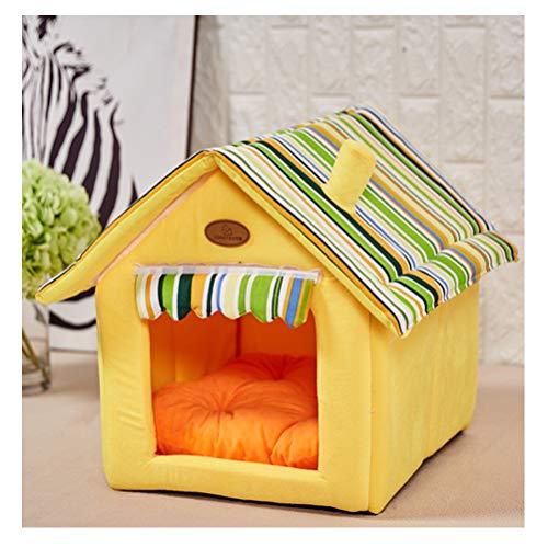 ZCNNO Faltbares Schwammmaterial Cat Apartment, maschinenwaschbares kleines Hundebett aus Mikrofaser und Flockstoff für Katzen und kleine Hunde