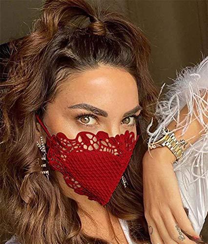 Unicra Mascarillas de encaje para fiesta de baile de mascarada,...