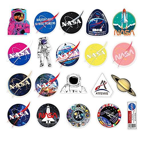 JZLMF 50 Dibujos Animados Astronauta Planeta Graffiti Pegatinas Equipaje Nevera Caja de papelería Pegatinas de decoración de Scooter