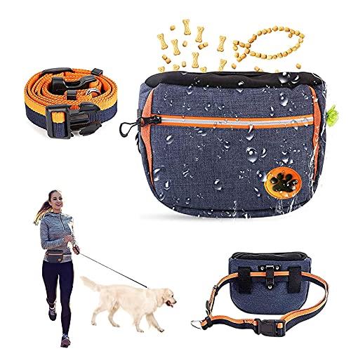 Leckerlibeutel für Hunde, Premium Futterbeutel, Esportic Futterbeutel für Hunde, Futtertasche für Hundetraining, Hundeleckerli-Tasche wasserdicht, Leckerli-Beutel für Hunde mit verstellbarem (Blau)