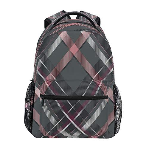 Vintage Tartan Scotland Plaid Backpack School Bookbag Travel Shoulder Laptop Bag for Womens Mens