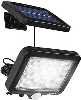 Luces de seguridad solar, Jorft 56 LED lámpara solar Sensor humano/de luz Luces brillantes impermeables para uso en jardines, cercas, escaleras, patios o entradas