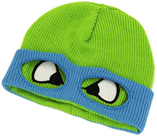 TMNT KC07QNTMT Retro Turtles - Leo Face Beanie Teenage Mutant Ninja Hoed, Groen, One Size