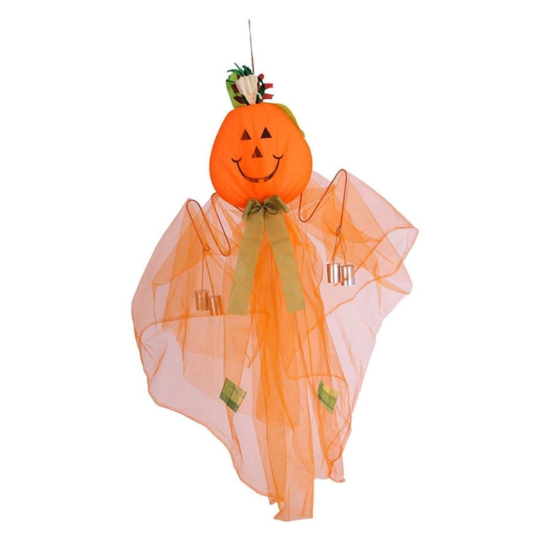 インタネットを見る神聖虐待ハロウィーンの装飾カボチャの風鈴の装飾の小道具装飾的なハロウィーン用品 (Color : WHITE)