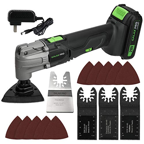 Read About GALAX PRO Oscillating Tool, 20V Lithium Ion Cordless Oscillating Multi Tool with 1.3Ah Ba...
