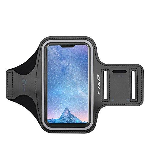 J&D Kompatibel für LG G7/LG G6/LG G6 Plus/LG G8 ThinQ Armband, Sportarmband für LG G7 LG G6 LG G6 Plus LG G8 ThinQ Running Armband, Zusätzliche Tasche für Schlüssel, Kopfhörer-Verbindung für Laufen