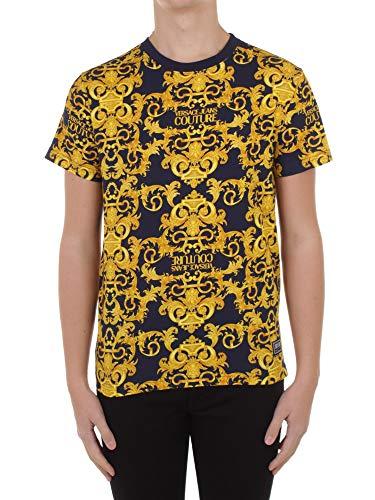 Versace Jeans Couture Tiki T-shirts och pikétröjor män blå/guld – M – T-shirts