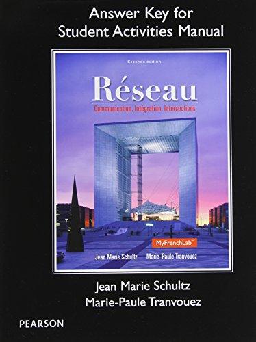 SAM Answer Key for Réseau: Communication, Integration, Intersections