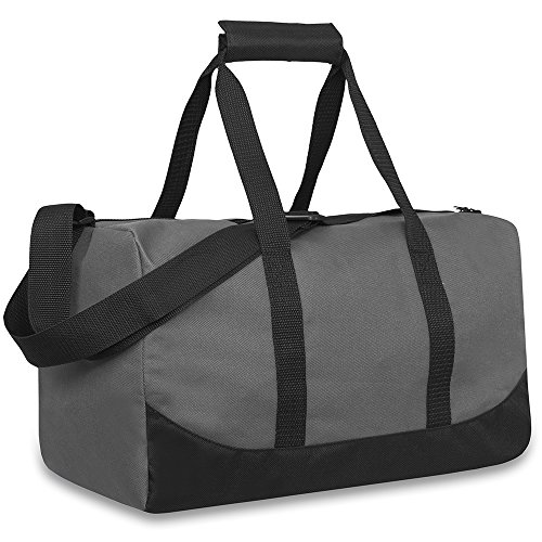 Trail maker 30 Liter, 17 Inch Canvas Duffle Bags for Men and Women -Travel Weekender Overnight Carry-On Shoulder Duffel Tote Bags (Grey)