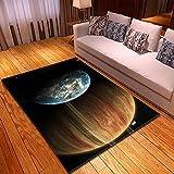 WPCheng Alfombra Hermoso Planeta Enorme Universo Alfombra Suave Antideslizante para Decoración del Hogar Impresa En 3D F-2732N 100X150Cm