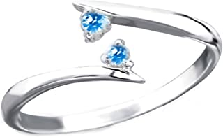 FIVE-D - Anello da piede in argento sterling 925, con cristalli