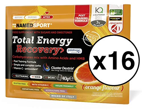 NamedSport Total Energy Recovery Box met 16 hoezen 40 g Frutti Rossi