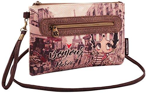 KARACTERMANIA Betty Boop Streets-Action Handy Shoulder Bag Umhängetasche, 28 cm, Beige