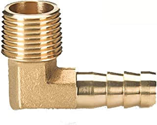 Lnanqing-slangverbinder, messing, elleboog, messing, weerhaak, mannelijk, draadaansluiting, 6 mm, 8 mm, 10 mm, 12 mm, 16 m...