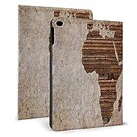 タブレットケース ビンテージ 木製プランク アフリカマップ タブレット保護ケース iPad Mini4/5 7.9 インチ iPad Air1/2 9.7 インチ タブレット ドロップショック保護ケース 軽量防塵フル保護ケーススクラッチシェル iPad mini4/5 7.9