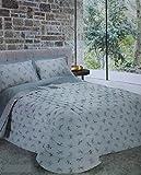 Ricami FIORENTINI Trapunta Modello Sogno Tessuto 100% Cotone Prodotto Artigianale di Alta QUALITA' Made in Italy (Azzurro, Matrimoniale 270x265)