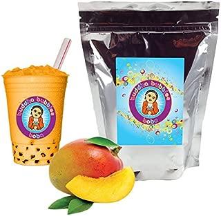 NEW TASTE ! Mango Boba / Bubble Tea Drink Mix By Buddha Bubbles Boba 1 Pound