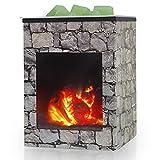 Bobolyn Iron Electric Oil Burner Wax Melt Burner Warmer Melter Fragrance Oil Burner for Home Office Bedroom Living Room Gifts (Fireplace)