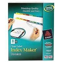 AveryインデックスメーカーPunchedクリアラベルタブDivider–200x Divider–8xタブ空白–8タブ( S ) /セット–8.5Amp ; Quot ; X 11Amp ; Quot ;–25/ボックス–マルチカラータブ