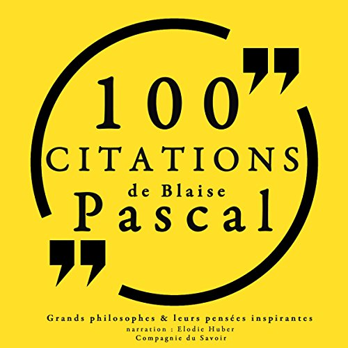 100 citations de Blaise Pascal audiobook cover art