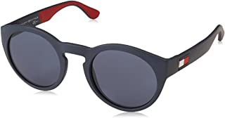 Tommy Hilfiger sunglasses (TH-1555-S 8RU/KU) Matt Blue - Matt Red - Blue Grey lenses