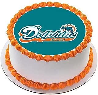 Miami Dolphins - Edible Cake Topper - 7.5