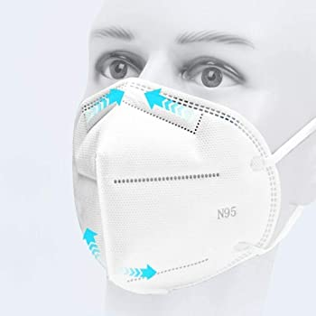 Srxes Reusable 5 Layer Melt-Blown Non-Woven Cotton Filter N95 Respirator Anti Air Pollution Medical Face Masks for Chemicals -Pack of 3