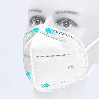 Srxes Reusable 5 Layer Filter N95 Respirator Mask For Chemicals, Anti Air Pollution Face Mask Respirator, Medical Masks For Face Pack Of 5