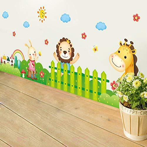 TAOYUE Cartoon Jungle wilde dieren DIY 3D behang Vinyl muur Stickers voor kinderen kamers Child Wall Art Decals huisdecoratie