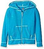 Hanes Little Girls' Slub Jersey Full Zip Jacket, Process Blue, X-Small