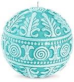 DECORNAC - Piccola sfera decorativa natalizia ♥ Lavorata a mano ♥ candela profumata, regalo per donna Natale argento broccato 9 cm