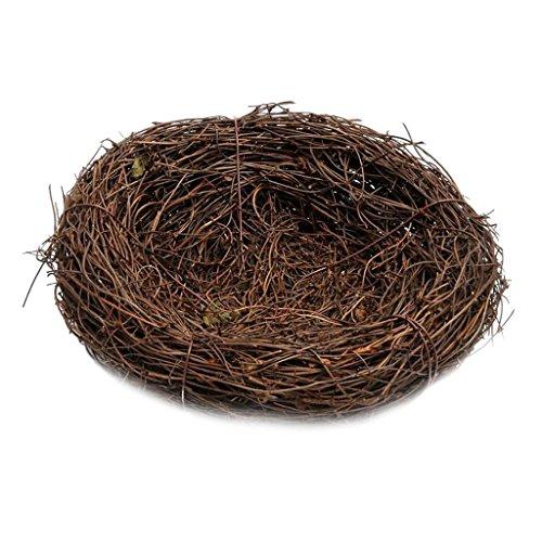 Blesiya Vogelnest Osternest Naturnest Deko Nest Frühling Zweige Rattan Nest - Braun, 20cm