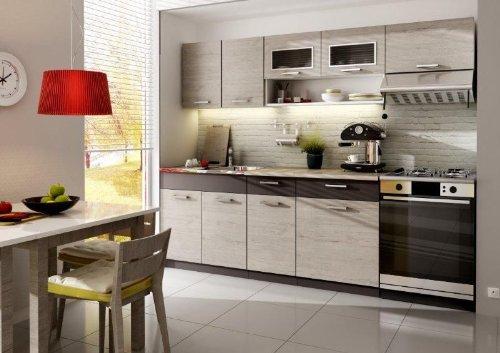 Komplett Küche 240cm Schränke, Küchenzeilen MORENO PICKARD