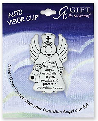 NURSE - GUARDIAN Angel - Auto VISOR CLIP - RN LPN CNA Nursing STUDENT Protect - Inspirational GIFT