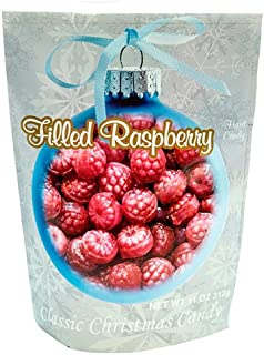 Primrose Filled Raspberry Hard Candy - Christmas Candy In Holiday Package - Gourmet Candy Since 1928 - 11 oz Resealable Bag