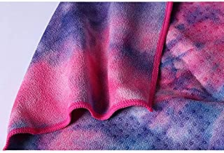 Tie-Dye Silicone Yoga Towel, Yoga Companion Soft Sweat, Silicone Particles are Not Easy to Move. Suitable for Hot Yoga Pilates