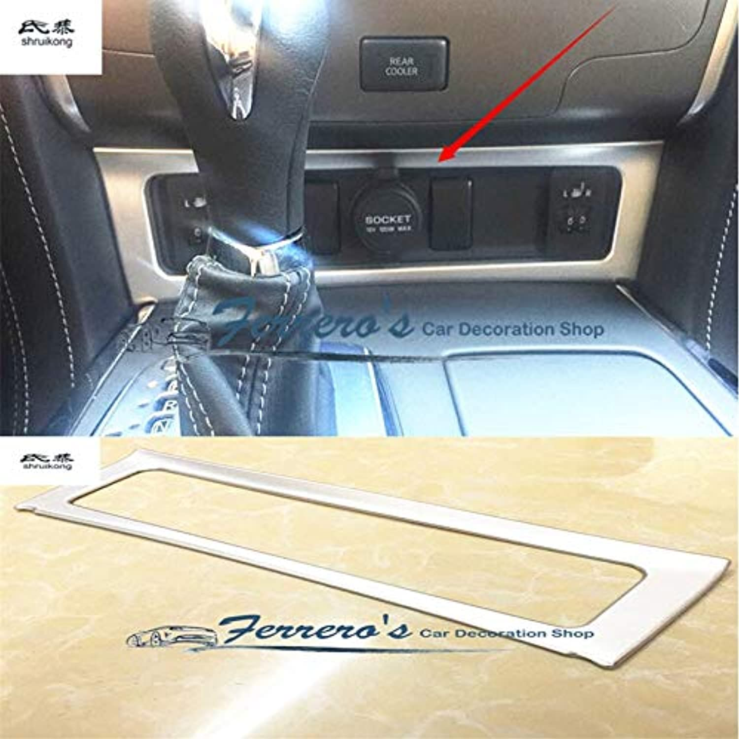 1pc ABS Chrome Cigarette Lighter Switch Decoration Cover Trims for Nissan Armada Patrol Royale Nismo Y62 20162018