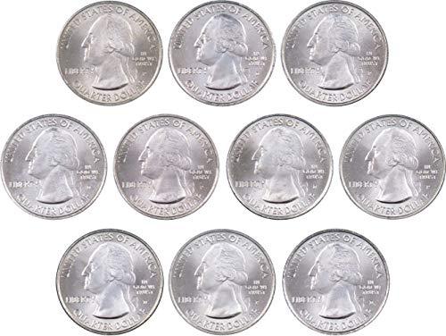 2010 P&D National Park Quarter 10 Coin Set Uncirculated Mint State 25c