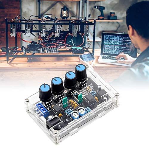 ICL8038 Kit Generador De Señal Función De Seno/Triángulo De Alta Precisión DIY/Salida Cuadrada 1Hz - 1MHz Amplitud De Frecuencia Ajustable, DC 12V ~ 15V, con Carcasa, XR2206 Actualizado