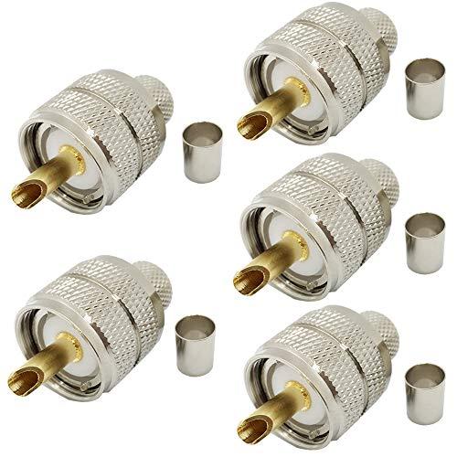 UHF (PL-259) männlichelich UHF-Stecker PL259 Anschlüsse für RG8/ 9913/LMR400 Kabel