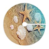 ALAZA Starfish and Seashell on The Summer Beach in Water Christmas Tree Skirt Soft Xmas Tree Decoration for Party Holiday Home Decor 47.2 Inch Diamet
