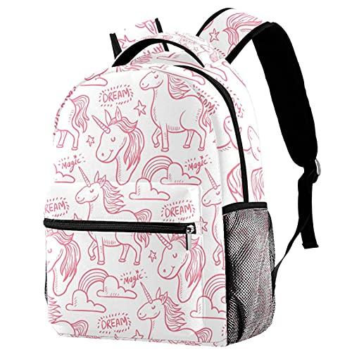 Leisure Campus - Mochilas de viaje con diseño de unicornio, color rosa