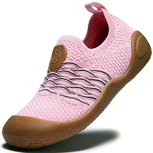 Gaatpot Kinder Sneaker Jungen Sportschuhe Madchen Atmungsaktiv Laufschuhe Outdoor Turnschuhe Freizeit Schuhe Pink 25EU