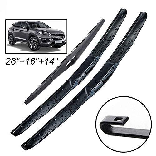HZHAOWEI Ruitenwisser LHD Front Ruitenwissers, Voor Hyundai Tucson ix35 MK2 2010-2015 Voorruit Voorruit Voorruit 24