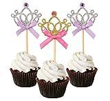 Autupy Set of 20 Glitter Tiara Cupcake...