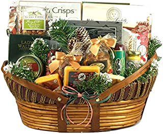 Holiday Comforts | Meat, Cheese & Nuts | Christmas Gift Basket | Size Extra Large